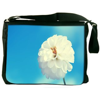 Snoogg Beautiful Flower Images Digitally Printed Laptop Messenger  Bag