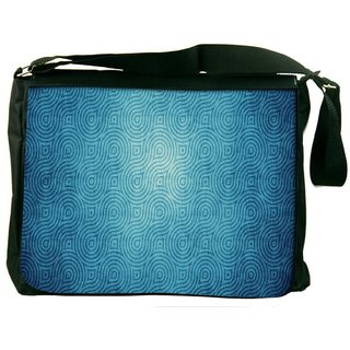 Snoogg Blue Texture Digitally Printed Laptop Messenger  Bag