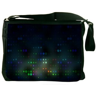 Snoogg Blurred Dots Digitally Printed Laptop Messenger  Bag