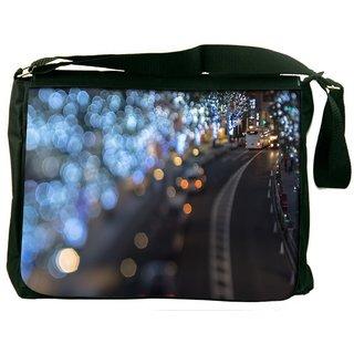 162da9586f96 Snoogg Blurred Light Dots Digitally Printed Laptop Messenger Bag