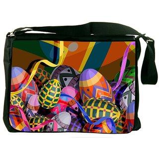 Snoogg Designer Eggs 2474 Digitally Printed Laptop Messenger  Bag