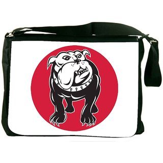Snoogg Bulldog Mongrel Dog Front View Designer Laptop Messenger Bag
