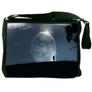 Snoogg Fantasy Wallpaper Digitally Printed Laptop Messenger  Bag