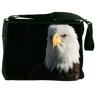 Snoogg Bald Eagle Digitally Printed Laptop Messenger  Bag