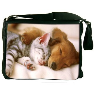 Snoogg Babies Sleeping Digitally Printed Laptop Messenger  Bag