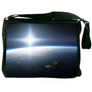 Snoogg Earth From Top Digitally Printed Laptop Messenger  Bag