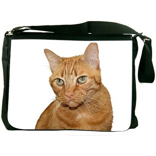 Snoogg Cat Designer Laptop Messenger Bag