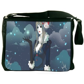 Snoogg Snow Queen Digitally Printed Laptop Messenger  Bag