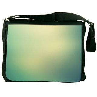 Snoogg Lite Green Background Design Digitally Printed Laptop Messenger  Bag