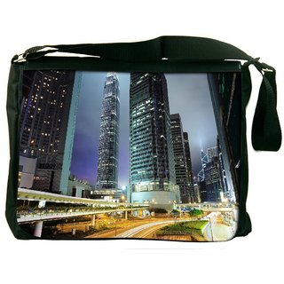 Snoogg Road Trips At Night Digitally Printed Laptop Messenger  Bag