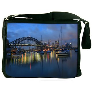Snoogg Colorful Night Digitally Printed Laptop Messenger  Bag