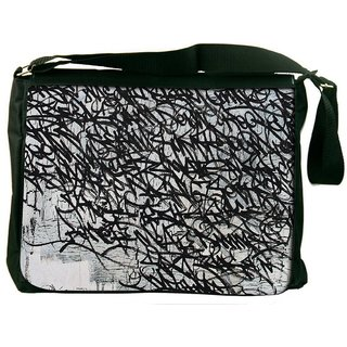 Snoogg Graffiti Incase Digitally Printed Laptop Messenger  Bag