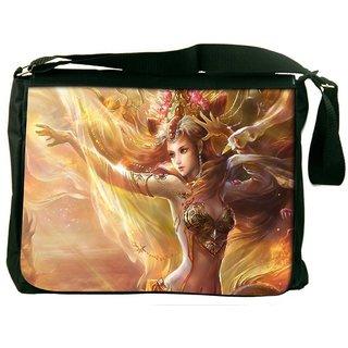 Snoogg Women Fantasy Digitally Printed Laptop Messenger  Bag