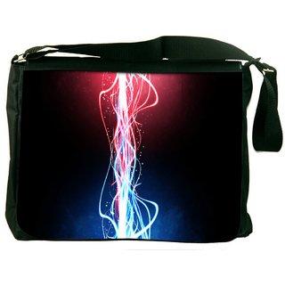 Snoogg Neon Multicolor Rays Digitally Printed Laptop Messenger  Bag