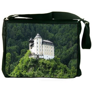 Snoogg House In The Tomb Digitally Printed Laptop Messenger  Bag