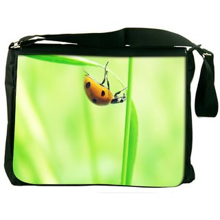 Snoogg Beatel In Yellow Digitally Printed Laptop Messenger  Bag