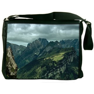 Snoogg Garden On Hill Top Digitally Printed Laptop Messenger  Bag