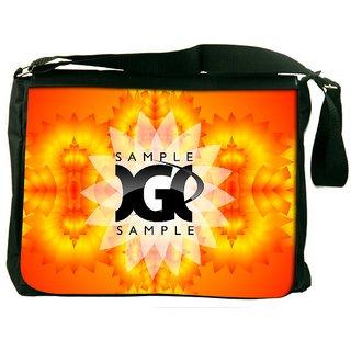 Snoogg Sample Digitally Printed Laptop Messenger  Bag