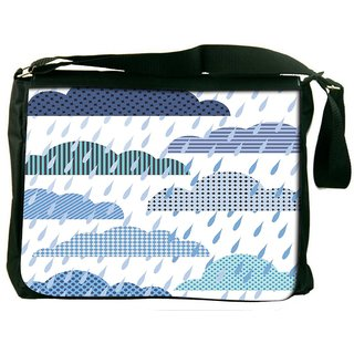 Snoogg Rain Fall Digitally Printed Laptop Messenger  Bag