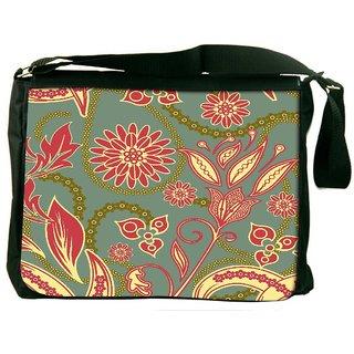 Snoogg Colorful Petals Digitally Printed Laptop Messenger  Bag