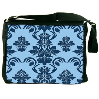 Snoogg Blue Abstract Pattern Digitally Printed Laptop Messenger  Bag