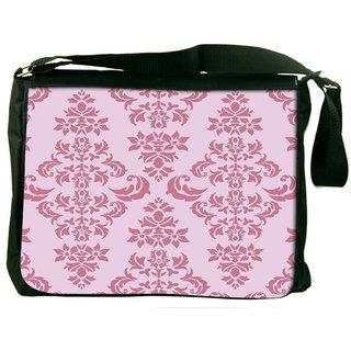 Snoogg Pink Pattern Digitally Printed Laptop Messenger  Bag