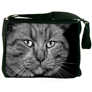 Snoogg House Cat Digitally Printed Laptop Messenger  Bag