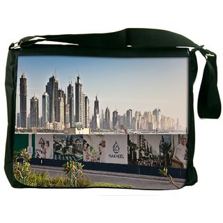 Snoogg Nakheel Digitally Printed Laptop Messenger  Bag