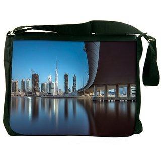 Snoogg Sealing View Digitally Printed Laptop Messenger  Bag