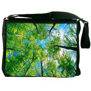 Snoogg Blossom Trees Digitally Printed Laptop Messenger  Bag