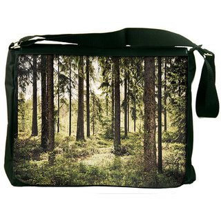 Snoogg Scary Forest Digitally Printed Laptop Messenger  Bag