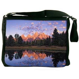 Snoogg Abstract Nature Digitally Printed Laptop Messenger  Bag