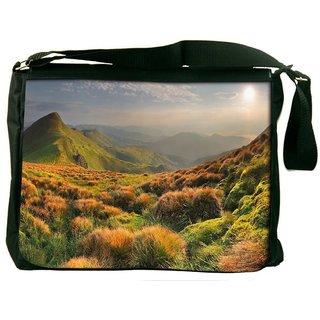Snoogg Colorful Grass Digitally Printed Laptop Messenger  Bag
