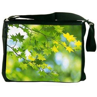Snoogg Leavesin Branches Digitally Printed Laptop Messenger  Bag