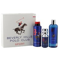 Beverly Hills Polo Club Gift Set Pack Of 3 ( EDT+ Body Wash + Deodrant ) Blue Men 8