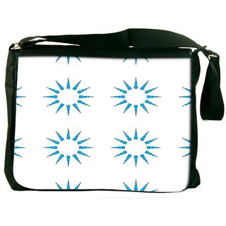 Snoogg Blue Sun Digitally Printed Laptop Messenger  Bag
