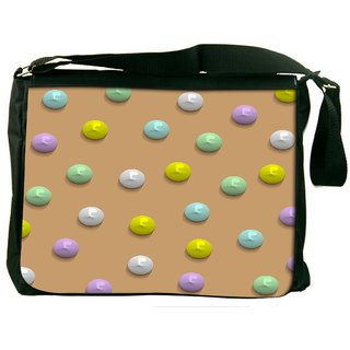 Snoogg Colorful Pebbles Digitally Printed Laptop Messenger  Bag