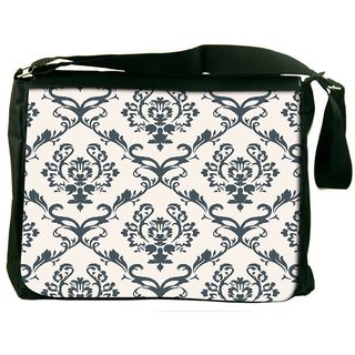 Snoogg Blue Pattern Digitally Printed Laptop Messenger  Bag