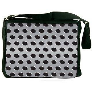 Snoogg Grey Holes Digitally Printed Laptop Messenger  Bag