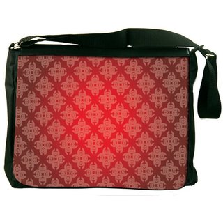 Snoogg Abstract Red Pattern Digitally Printed Laptop Messenger  Bag