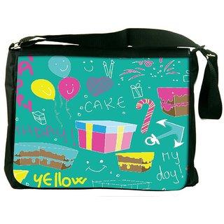 Snoogg Birthday Gift Digitally Printed Laptop Messenger  Bag