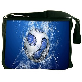 Snoogg Lets Football Digitally Printed Laptop Messenger  Bag