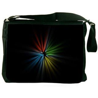 Snoogg Light Flower Digitally Printed Laptop Messenger  Bag