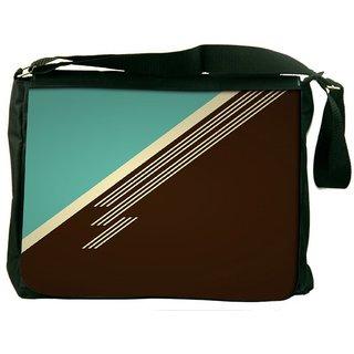 Snoogg Brown Lines Digitally Printed Laptop Messenger  Bag