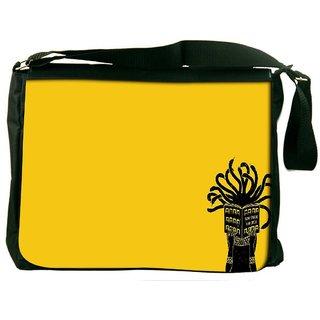 Snoogg Medusa Digitally Printed Laptop Messenger  Bag
