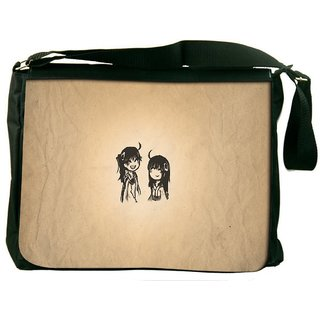 Snoogg Minimalistic Simple Digitally Printed Laptop Messenger  Bag