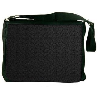 Snoogg Black Wall Pattern Design Digitally Printed Laptop Messenger  Bag