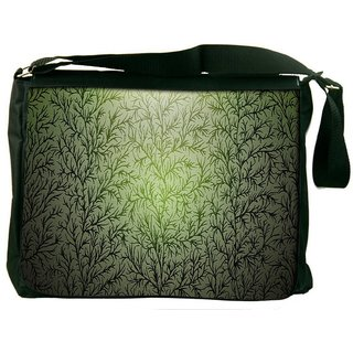 Snoogg Small Grass Design Digitally Printed Laptop Messenger  Bag