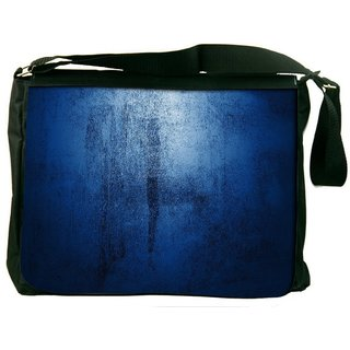 Snoogg Abstract Blue Paint Design Digitally Printed Laptop Messenger  Bag