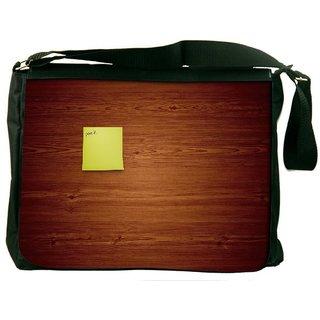 Snoogg Post It Digitally Printed Laptop Messenger  Bag